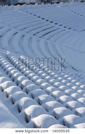 Winter stadium's seats