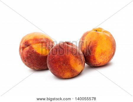 peach vegetarian agriculture  on a white background