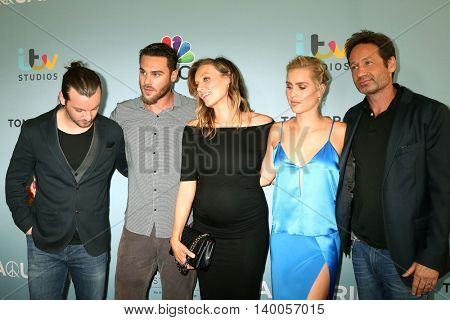 LOS ANGELES - JUN 16:  Aquarius Cast, Gethin Anthony, Grey Damon, Michaela McManus, Claire Holt, David Duchovny at the Aquarius Screening at the Paley Center on June 16, 2016 in Beverly Hills, CA