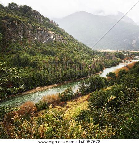 Rio Espolon, Futaleufú, Patagonia Chilena en invierno