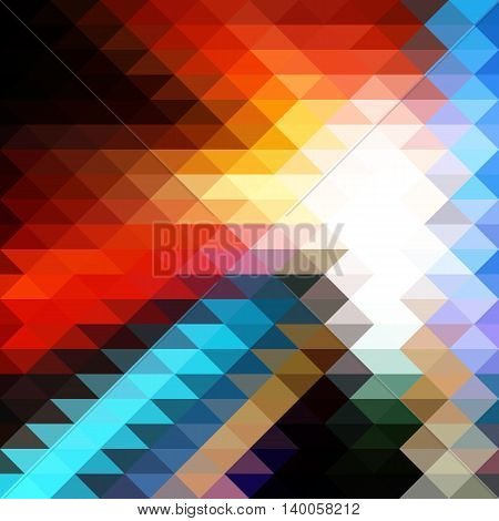 Bright Colorful Triangular Polygonal Mosaic Background. Vector illustration