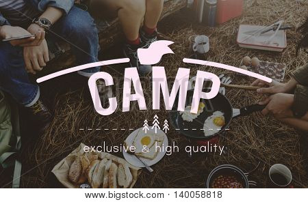 Camp Adventure Journey Caravan Trip Vacation Concept