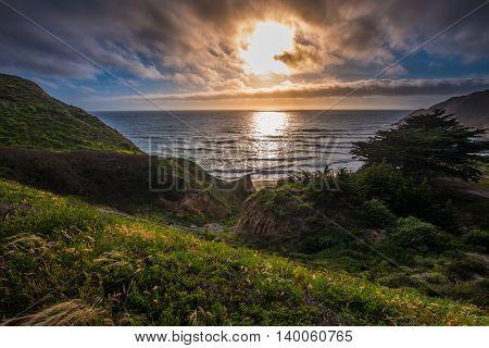 Gray Whale Cove Beach California