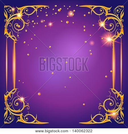 Shining purple card