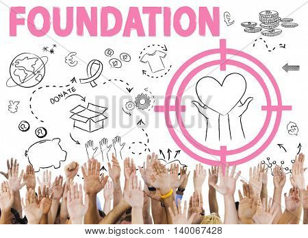 Donations Foundation Giving Help Welfare Charity Concept