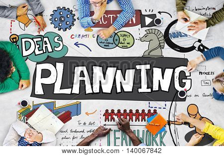 Planning Action Ideas Strategy Teamwork Concept