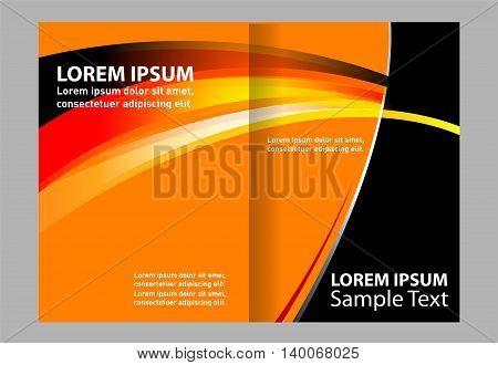 Corporate bi Fold Brochure vector illustration. brochure bi fold template