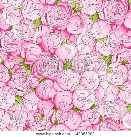Bright peonies background