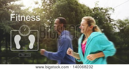 Weight Control BMI Wellbeing Lifestyle Concept