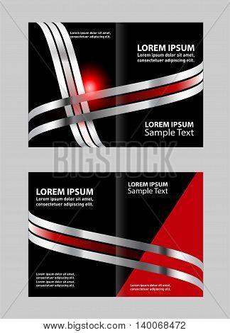 Bi-fold brochure template design, business leaflet, booklet