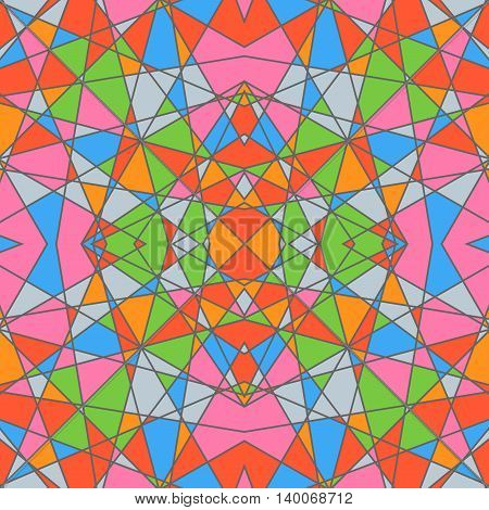 Seamless pattern with geometrical figures. Colored background