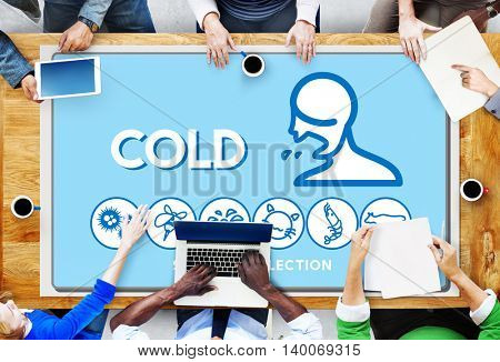 Cold Allergy Disorder Sickness Healthcare Concept