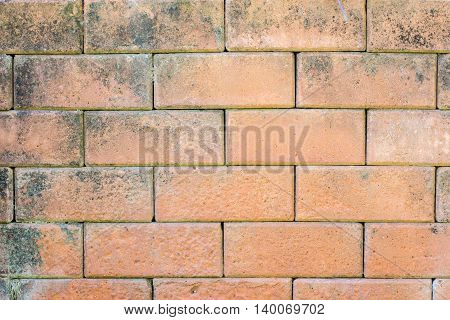 Close-up of brick wall background. solid, cement, brickwork