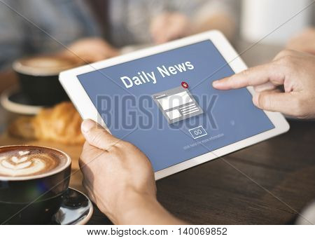 Daily News Announcement Broadcast Article Concept