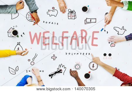 Welfare Donations Charity Foundation Support Concept