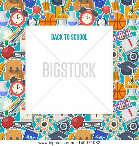 School background concept with place for your text, vector illustration