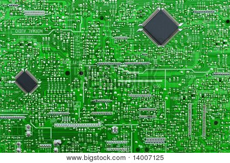 Board with electronic chips