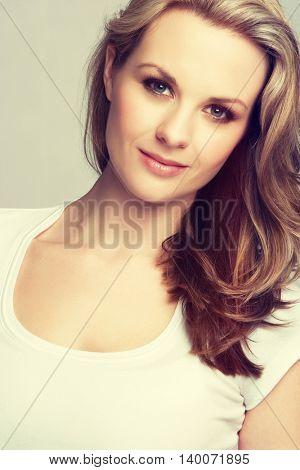 Portrait of a beautiful blond woman