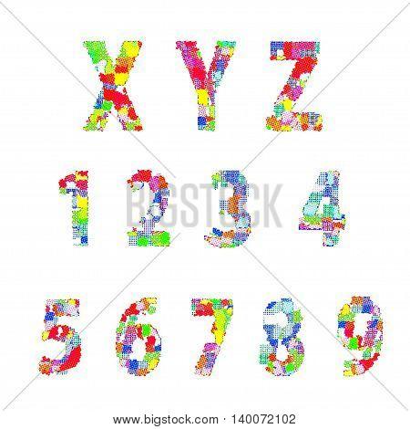 Bright creative cartoon comic alphabet Vector illustration EPS