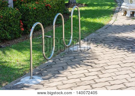 Bicycle parking Park outdoor, college, rack, campus,