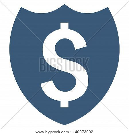 Bank Insurance vector icon. Style is flat symbol, blue color, white background.