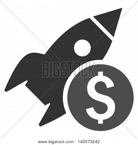 Business Startup vector icon. Style is flat symbol, gray color, white background.