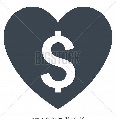 Paid Love vector icon. Style is flat symbol, smooth blue color, white background.