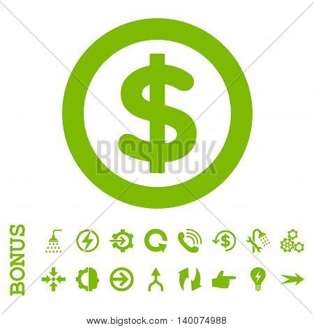 Finance glyph icon. Image style is a flat iconic symbol, eco green color, white background.