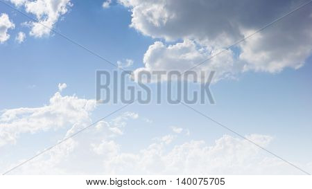 Light blue gradient filter sky and clouds for background