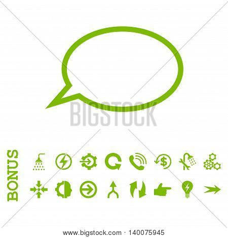 Hint Cloud glyph icon. Image style is a flat pictogram symbol, eco green color, white background.