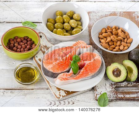 Food Sources Of Unsaturated Fats And Omega 3.