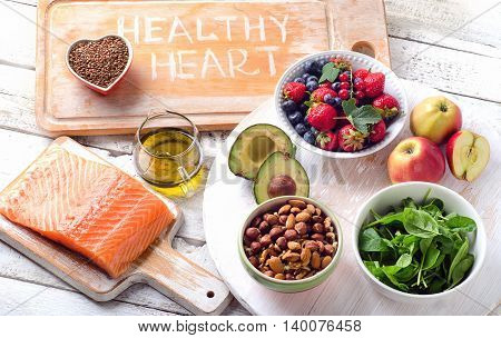 Best Foods For Heart. Healthy Diet.