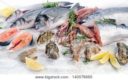 Raw Seafood.
