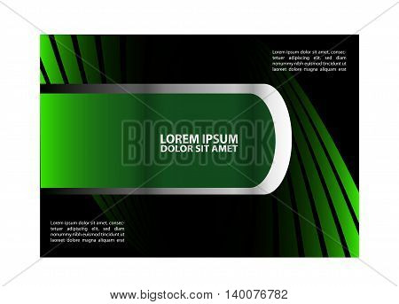 Front and back presentation of professional Business Trifold, Flyer, Banner or Template design.