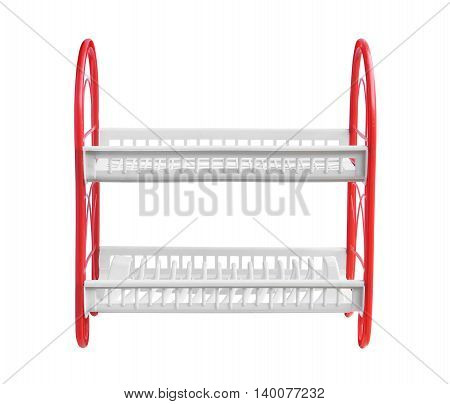 Dish rack (with clipping path) isolated on white background