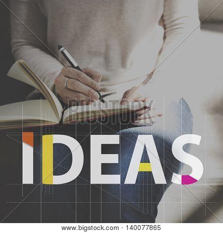 Ideas Creative Woman Writing Concept