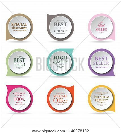 Modern Badges Colorful Collection 3.eps