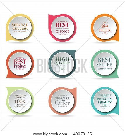 Modern Badges Colorful Collection 2.eps
