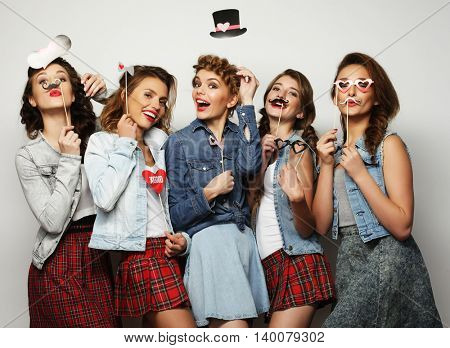 stylish girls best friends ready for party