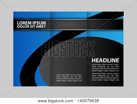 Professional Business Trifold Brochure, Template or Flyer design with free space for your image.