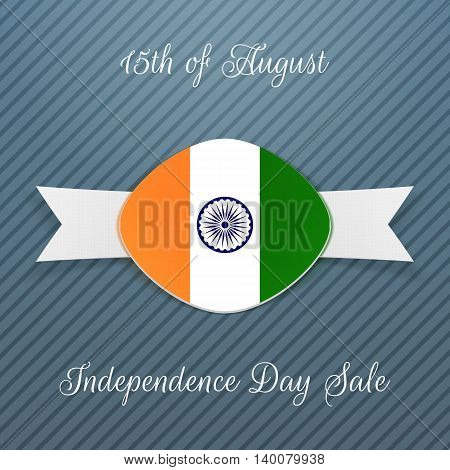 India Independence Day Holiday Badge. Vector illustration