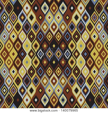 Abstract geometrical background template - mosaic or carpet texture design
