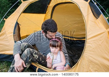Rest Tourist Camping Weekend Family Relax Trip Holiday Vacation Love Care Concept