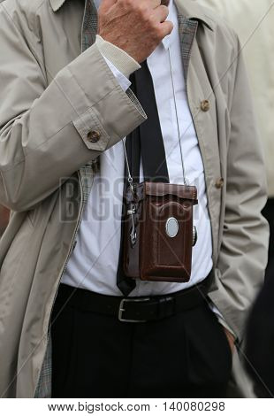 Photojournalist With Antique Camera