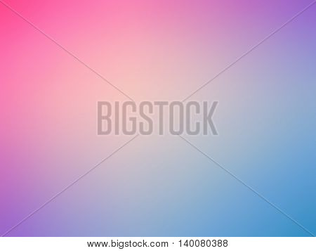 Abstract gradient rainbow pink blue purple colored blurred background.