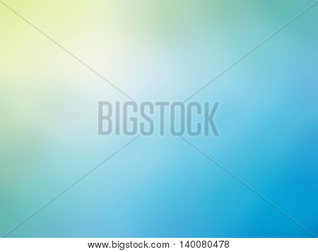 Abstract gradient yellow blue colored blurred background.