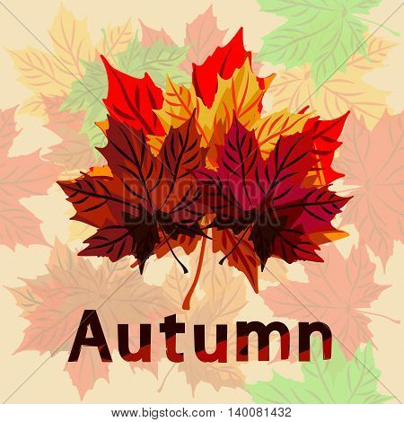 Illustration on the theme of autumn and autumn holidays in bright colors to respect and positive.