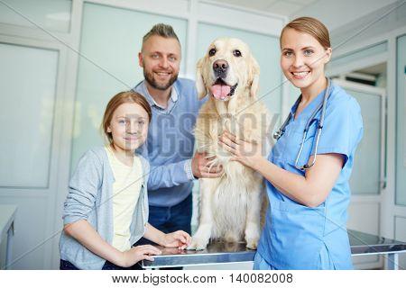 Visiting vet clinics