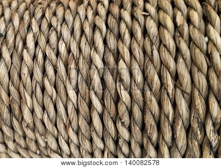 Rope background lines curl isolated , knot
