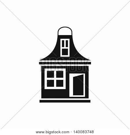 Small house icon in simple style isolated on white background. Structure symbol